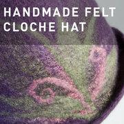 D06 - HANDMADE FELT CLOCHE HAT