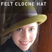 G02 - FELT CLOCHE HAT