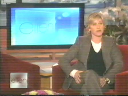 Caricature of Ellen DeGeneres drawn with my feet