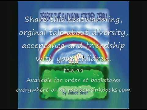 Zebert The Rainbow Striped Zebra Book Trailer