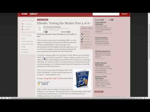 EBooks: Testing the market part 4 of 6