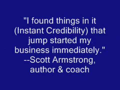 Scott Armstrong Testimonial for Instant Credibility by Ronda
