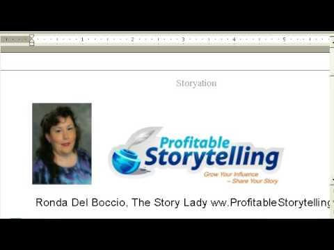 Storytelling for Business Ronda Del Boccio The Story Lady www.ProfitableStorytelling.com