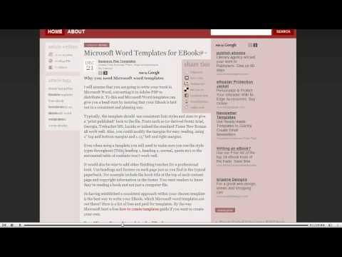 Microsoft Word Templates for EBooks