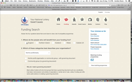 Fundraising } Grant Aid Searches