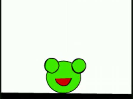 Grodan som hoppar och blinkar
