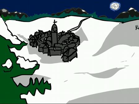Santa blow up the chimney