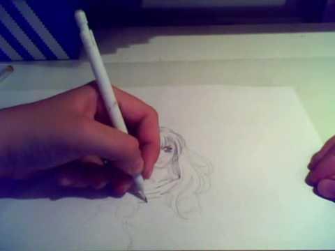 Me drawing a mangagirl