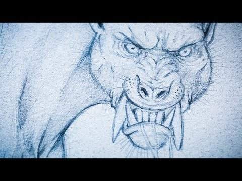Monster Drawing Techniques - How to Draw a Werewolf - PREVIEW