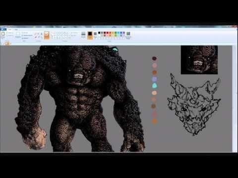 Monster I MS Paint