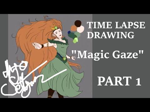 "[TIME LAPSE DRAWING] ""Magic Gaze"" PART 1 (of 2)"
