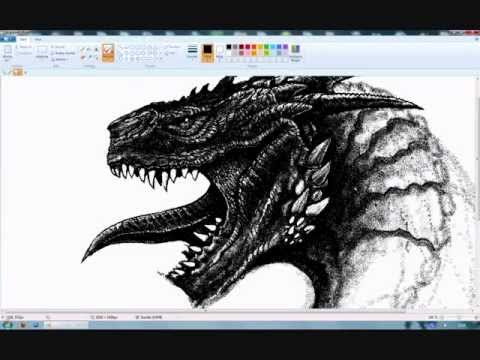 Another dragon in ms paint