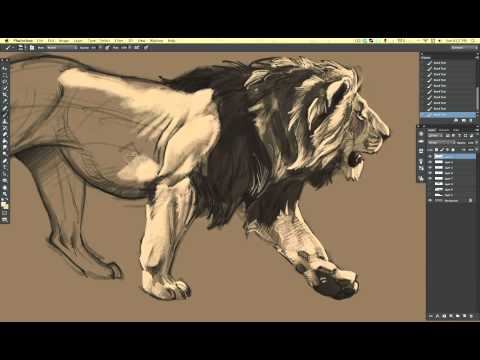 Teckna lejon