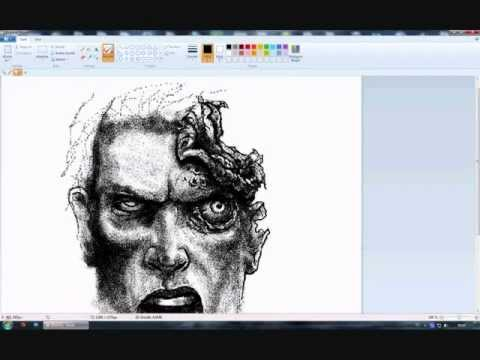 Painting Zombie head in MS Paint