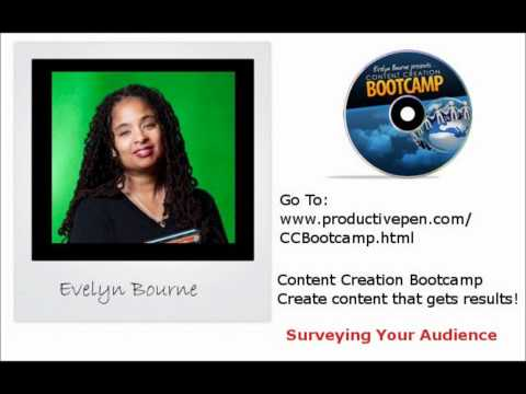 Content Creation Bootcamp --Find Out What Your Reader Want using Surveys