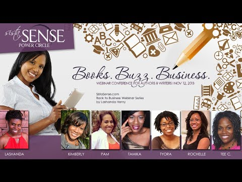 Books.Buzz.Business. Webinar Conference for Authors and Writers