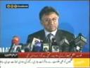 Musharraf addressing Karachi Business Community