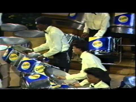 "London Allstars Playing ""The Barber of Seville"" at the National Steelband Festivsl competetion 1986"