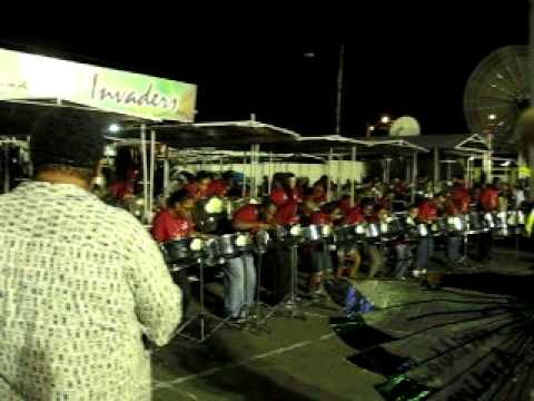 Caribbean Airlines Invaders -  You Know I Like It  - 2012 Panorama Preliminaries at the QP Oval.AVI