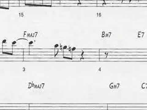 "Animated Sheet Music: ""Giant Steps"" by John Coltrane"