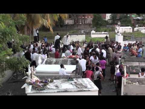 "Funeral of St. Lucian folk musician ""Mr. Ives"" Simeon"