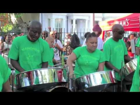 "UK's Mangrove Steel Orchestra playing Ne-Yo's ""Closer"""