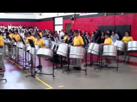 KACP Spring Show 2012 - Oye Como Va - 8th Grade Steel Drums