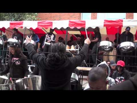 "UK's Mangrove Steel Band playing ""All Over"" - arranged by Andre White"