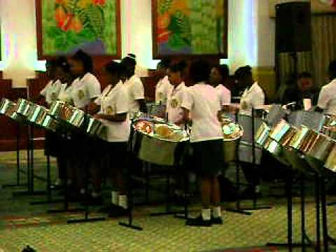 St Francois Girls College Steel Orchestra plays at Pan Trinbago Awards Ceremony 2012