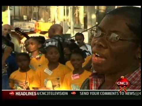 City Angels sing in Port of Spain