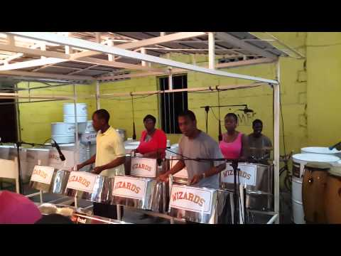 """Grenada's Pan Wizards Steel Orchestra play """"Going Away"""""""