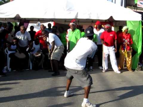 """""""Come try and buss meh head"""" Trinidad stick fighting (Bwah!"""")."""