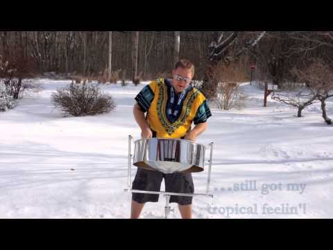 Walking In A Winter Wonderland - Steel Pan in the Snow!