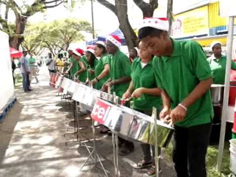 Guyana's Bishops' High School Steel Orchestra at Christmas concert