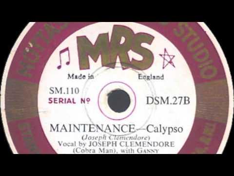 Maintenance [10 inch] - Joseph Clemendore (Cobra Man) with Ganny Gabbinson & His Calypso Band