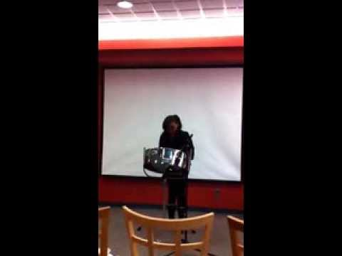 10 yr old Trenyce playing the steel pan -The Fog by Machel Montana