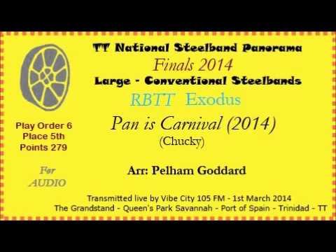 TT Steelband Panorama 2014 - Large Finals. Exodus - Pan is Carnival (Arr by Pelham Goddard)