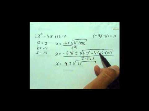 ecuación cuadrática, raíces complejas.wmv