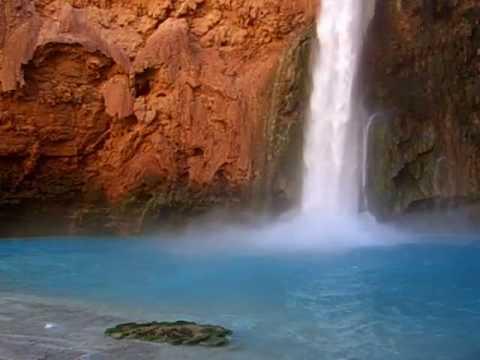 Havasupai Indian Waterfall Relaxation Video