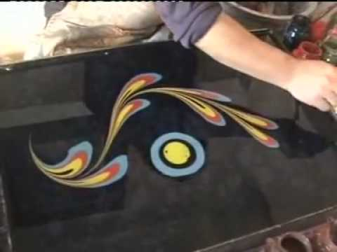 Painting in water