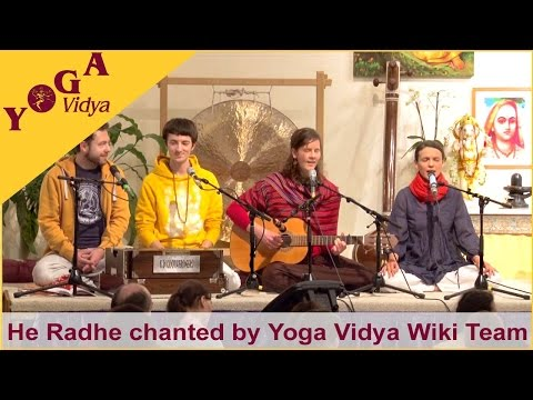 He Radhe chanted by the Yoga Vidya Wiki Team