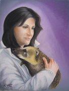 Self-portrait with coati