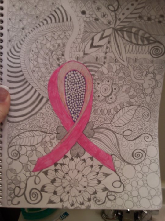 Breast cancer doodle