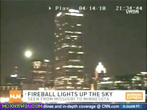 April 14. Fireball Lights Up The Sky From Missouri To Minnesota