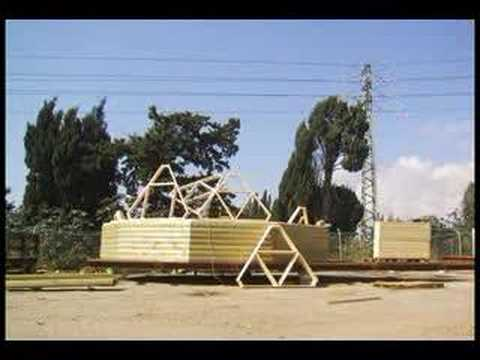 Ecologic Geodesic Dome Timber House