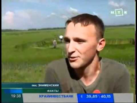 NEW - Crop Circle in Krasdonar Russia in TV news May 27,  2011.