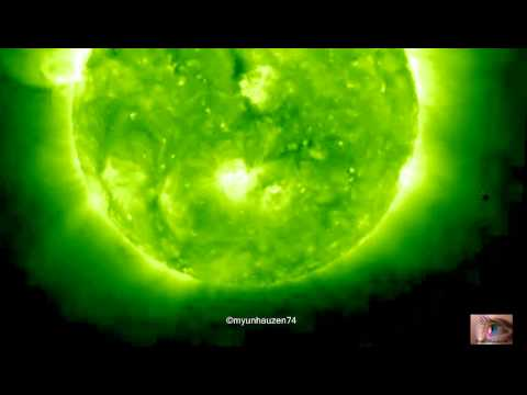UFO activity in the orbit of the Sun June 21, 2011 (SOHO STEREO Ahead  EUVI 195)