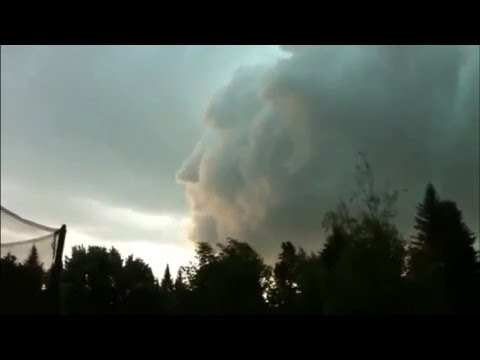 Big Awesome Face in the Clouds - New Brunswick, Canada - August 2, 2011