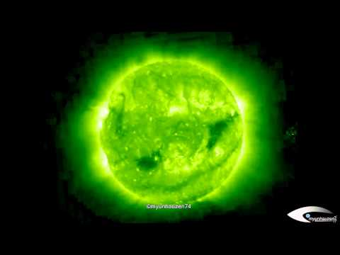 UFO activity in the orbit of the Sun August 9, 2011 SOHO STEREO Behind EUVI 195