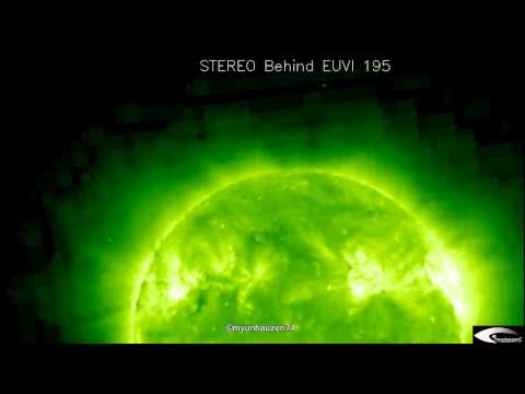 "UFO activity in the orbit of the Sun + Giant ""RODS"" August 26, 2011 SOHO STEREO Behind + Ahead"